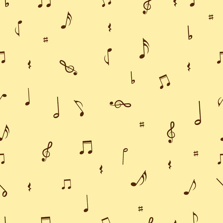 note paper: Musical notes seamless pattern background. Illustration