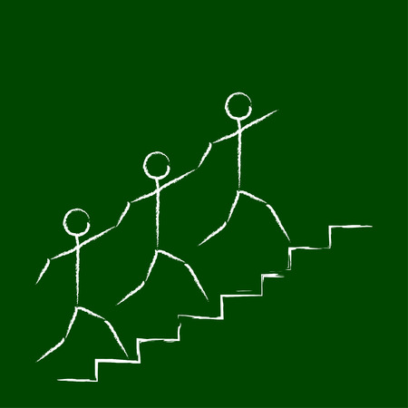 figuras abstractas: Trabajo en equipo figuras abstractas