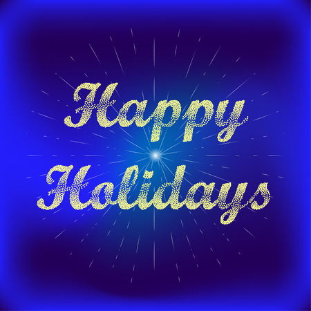 holyday: Happy Holidays Vector Greeting Card. Happy Holidays Vector background. Bublles Text Happy Holidays.