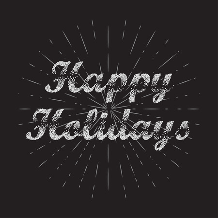 holiday: Happy Holidays Vector Background. Bublles Text Happy Holidays.