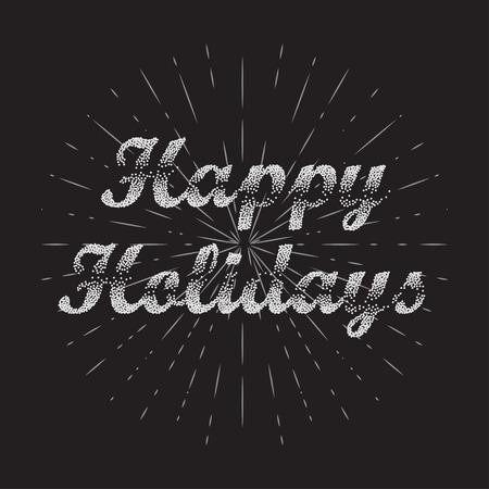 holidays: Happy Holidays Vector Background. Bublles Text Happy Holidays.