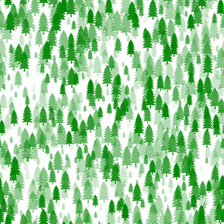 Thicket seamless pattern background. Winter forest. Christmas tree.