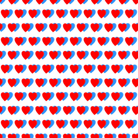 two hearts: Two hearts seamless pattern background.  Illustration