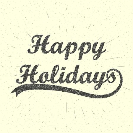 holidays: Happy Holidays Lettering Background. Illustration