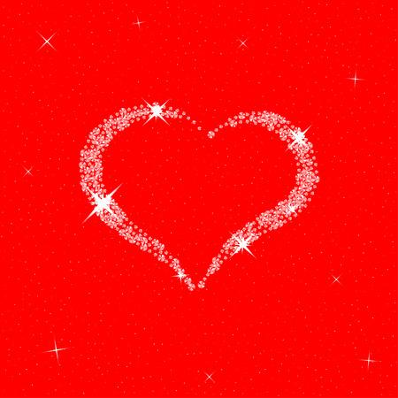 coeur diamant: coeur de diamant pour la Saint Valentin. modèle de vecteur pour la conception du jour de votre Valentine.