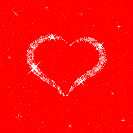 diamond heart: Diamond heart for Valentines Day. Vector template for your Valentines Day design.