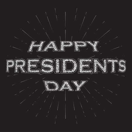 president's day: Happy Presidents Day Vector Background. Bublles Text Happy Presidents Day with rays.