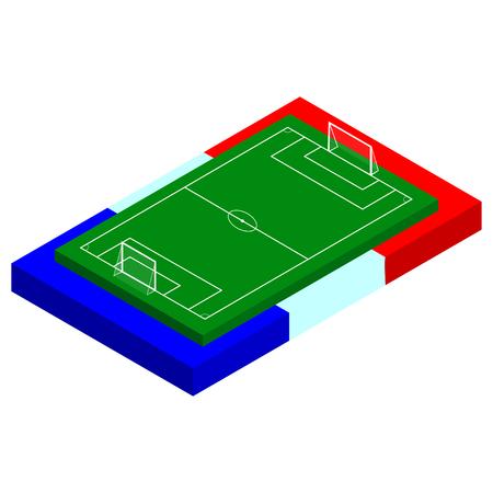 campeonato de futbol: Concepto para la Eurocopa de f�tbol de 2016. Ilustraci�n del vector para la Euro 2016. Aislado en blanco. Vectores