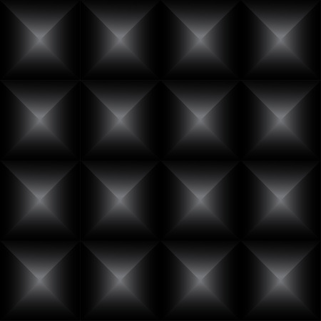Black pyramids seamless pattern background. Geometric seamless. Vector pattern.