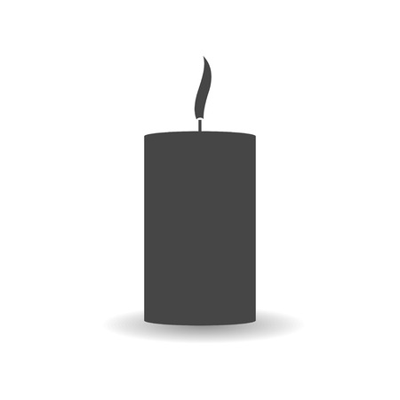 dolor: Mourning candle vector icon.