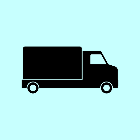 courier service: Truck vector icon. Delivery service icon. Shipping service icon. Cargo serviceicon. Courier service icon. Stock vector.