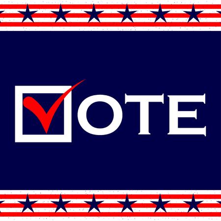 US 2016 Presidential Election sfondo. Votare poster. US votazione presidenziale. Vector background.