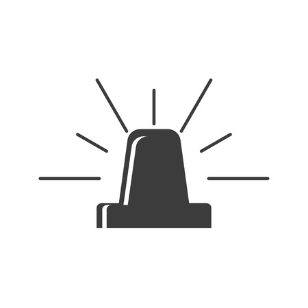 flasher: Simple flasher icon. Vector flasher icon. Danger signal icon. Alert icon. Illustration
