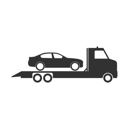 Technical assistance vector icon. Evacuator icon. Roadside assistance icon.