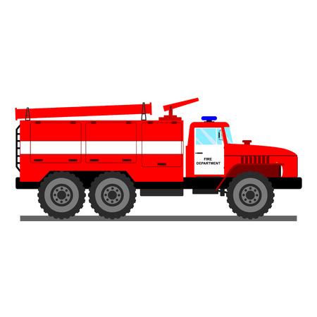 fire car: Fire car vector illustration.