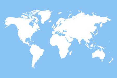 Monde modèle carte vectorielle.