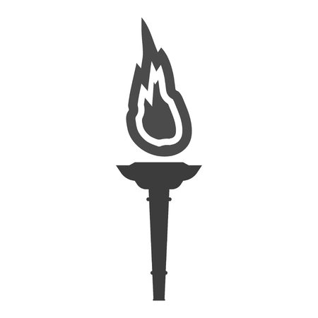 flambeau: Torch vector icon. Flambeau icon. Cresset icon.