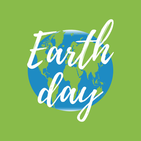 earth day: Earth day vector poster. Illustration