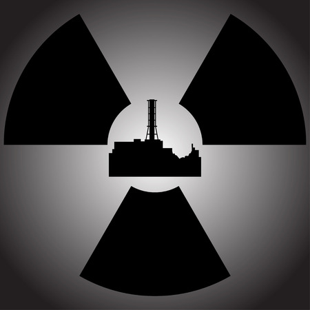 nuclear power: Tragedy at the Chernobyl nuclear power station. Illustration