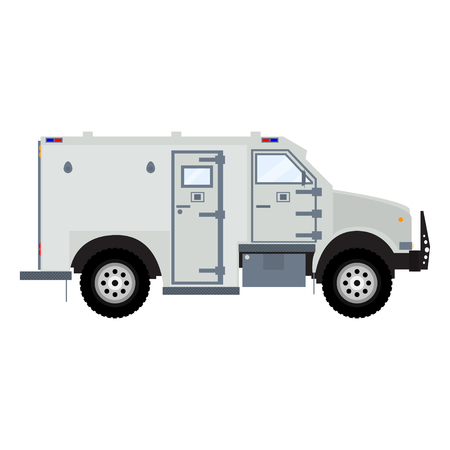 armored: bank armored car. Bank armored car. Bank armored truck. Bank armored vehicle. Bank bulletproof car. Bank armored van. Isolated on white bank armored car. Illustration
