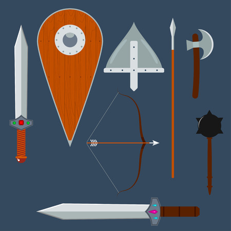 weapons: Set of medieval weapons