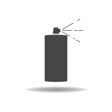 compressed gas: Aerosol icon Illustration