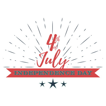 th: USA Independence Day vector illustration. USA Independence Day banner. 4th of July decoration. 4 th of July celebration. 4th of July vector illustration. 4th of July - stock vector.