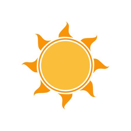 hot sun: Vector sun icon. Sun icon . Sun icon vector. Hot sun icon. Bright sun icon. Isolated on white sun icon.