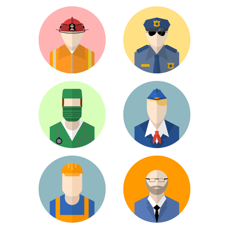 professions: set of professions icon
