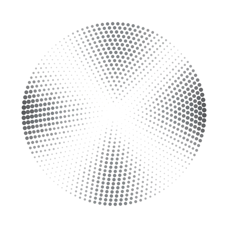 halftone background: Vector abstract halftone background with dark grey segments. Halftone element for your design. Isolated on white stock vector. Illustration