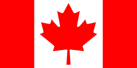 Canadian flag vector background. Aspect ratio is one to two.