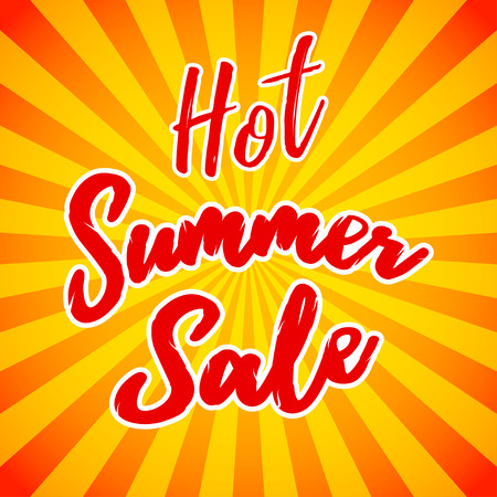 Vector hot summer sale banner. Clearance or closeout background. Seasonal sale template. Vector illustration. Illustration