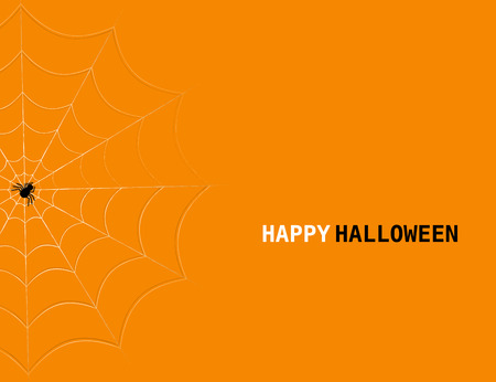 spiders web: Halloween concept with spiders web and lettering. Vector halloween background.