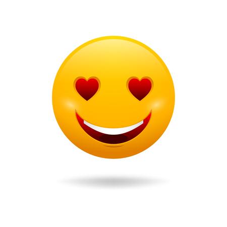 enamorados caricatura: Vector lindo sentimiento en el amor emoticon aislado sobre fondo blanco. Vectores
