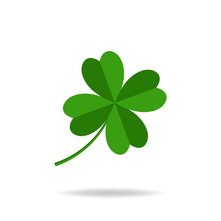 Vector four leaves clover, St. Patricks day icon. Stock Photo