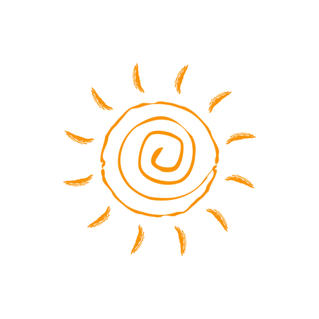 Swirl sun icon. Isolated on white background. Vector illustration.