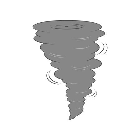 Tornado icon. Illustration
