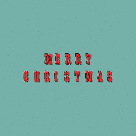 ベクター メリー クリスマス テキスト レタリング デザイン カード テンプレートです。休日の挨拶ギフト ポスターのクリエイティブなタイポグラフ