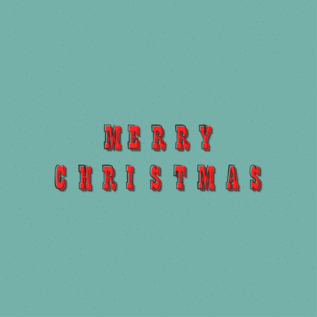 Vector Merry Christmas text lettering design card template. Creative typography for holiday greeting gift poster. Retro font style banner. Иллюстрация