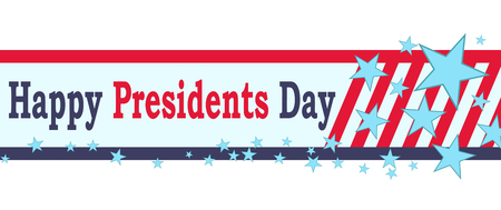 Vector Happy Presidents Day banner. Isolated on white background. Illustration