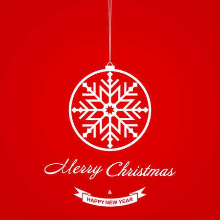 Christmas background. Christmas greeting card template with wishes Merry Christmas and Happy New Year. Vector