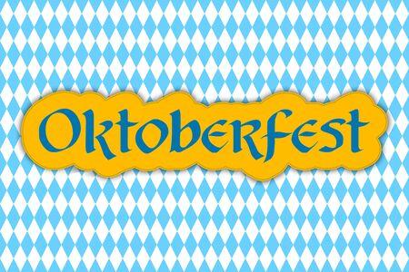 Oktoberfest lettering. Oktoberfest design for greeting cards and poster. Beer Festival banner. Vector. Archivio Fotografico - 128367623