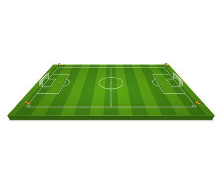 Soccer field design. Isolated on white background. Vector illustration. 일러스트