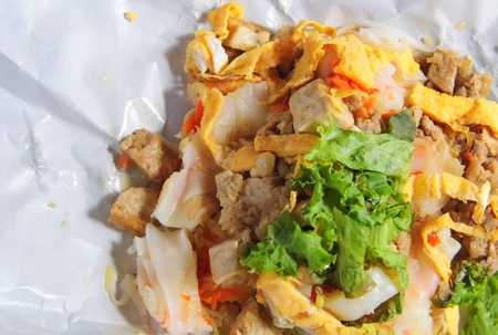 thai people: Rice Noodle Rolls Thai people called Kuay Teow Lot