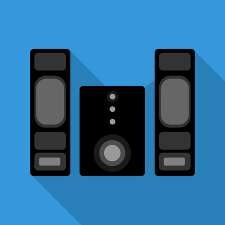 Stereo speaker and power amp icon with drop shadow