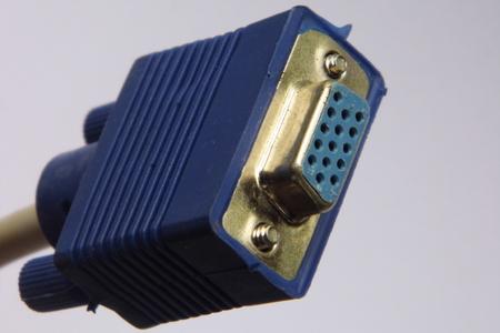 vga: Conector del cable de puerto VGA Foto de archivo