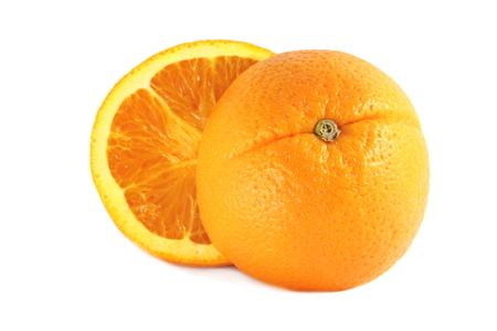 navel: Fresh Navel orange on white background
