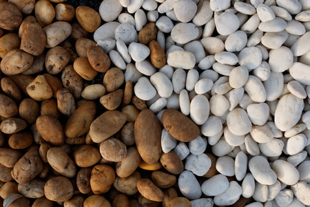 two tone: Two tone white and brown pebble stone background