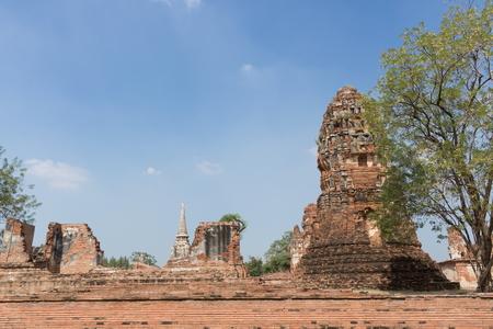 Ruins of Wat Maha That in Ayutthaya historical park, Thailand