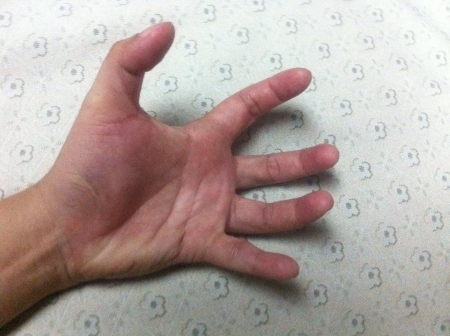 mano derecha: Mano derecha agitado